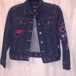Girls Gap Bling Blue Jean Jacket